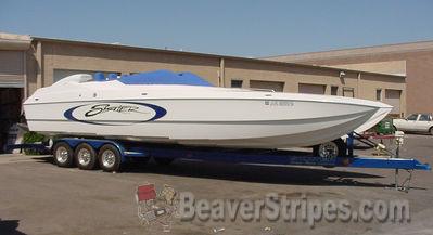 Boats - New Graphics on Boats - Beaver Stripes, Phoenix, AZ