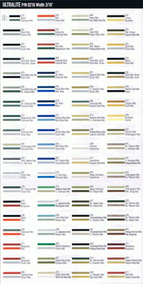 Vinyl Pinstripe Rolls Beaver Stripes