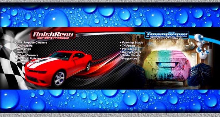 Finish Renu Car Wash Products